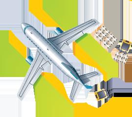 Transporte auf dem Luftweg