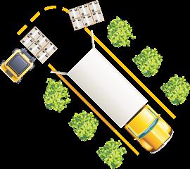 Transporte auf dem Landweg